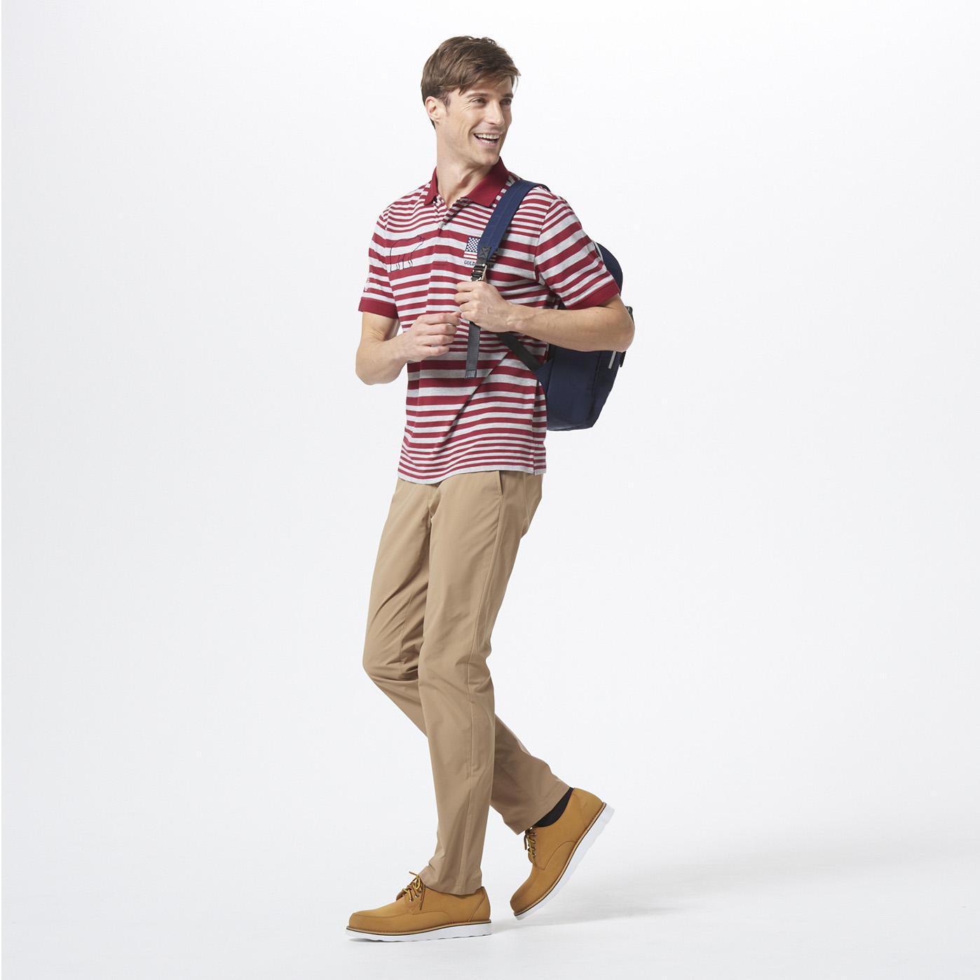 【Golden Bear Mens】<br/>ポロシャツを使ったスポーティなスタイリング