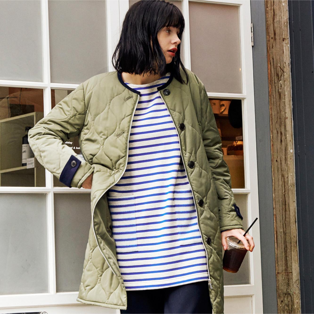 JANTZEN <br/>Modern quilting coat.