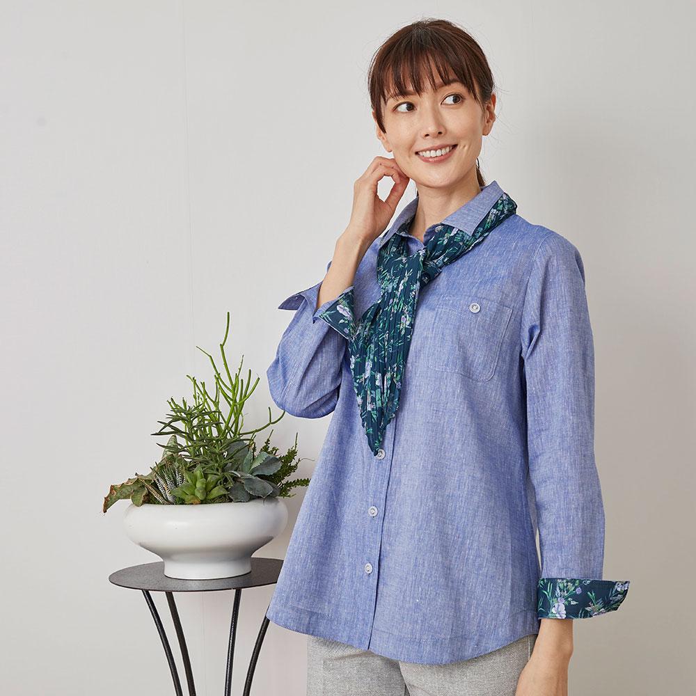 Marisa Grace </br>「日比谷花壇」コラボシャンブレーシャツ